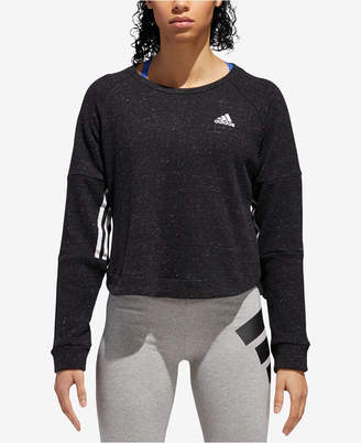 adidas Sport 2 Street Cotton Cropped Sweatshirt