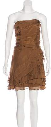 ABS by Allen Schwartz Silk Strapless Dress