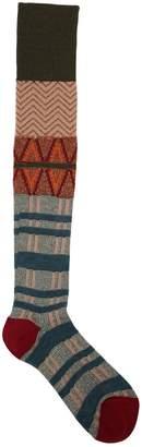Antonio Marras Geometric Intarsia Wool & Lurex Socks