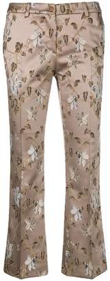 Pt01 Jaine floral-embroidered trousers