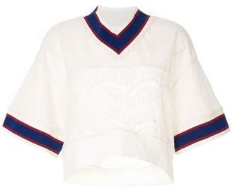 Puma Maison Yasuhiro jersey-jock T-shirt with lace