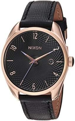 Nixon Women's 'Bullet Leather' Quartz Stainless Steel Casual Watch