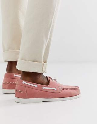 KG by Kurt Geiger Kg Kurt Geiger boat shoes in pink suede