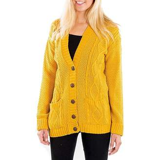 Platinum Clothing Knitted Cable Knit Cardigan for Winter/Christmas