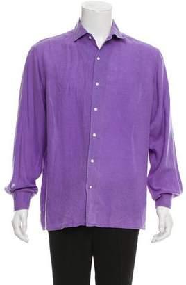 Ralph Lauren Purple Label Linen Button-Up