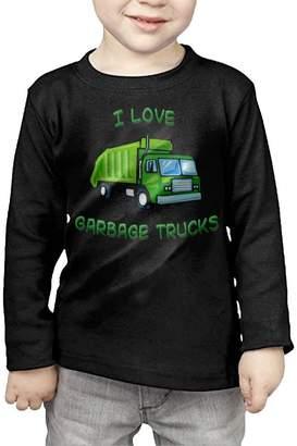 Arromper Green I Love Garbage Trucks Girls&Boys Long Sleeve T-Shirts