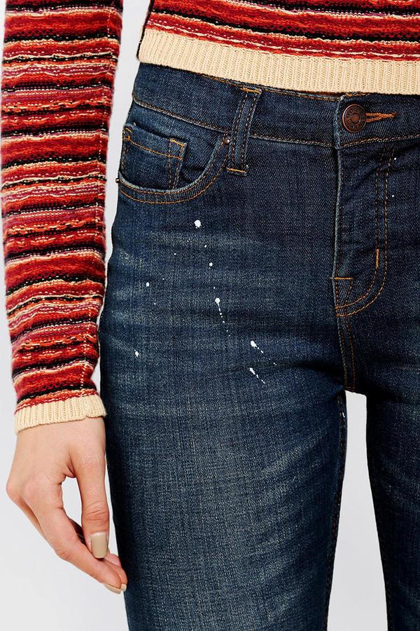 BDG Cigarette High-Rise Jean - Patch Destroy