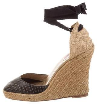 3c1493f187d Christian Louboutin Espadrille Wedge Sandals