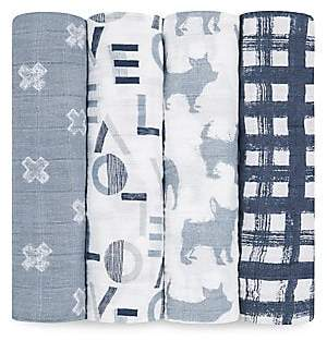 Aden Anais aden + anais aden + anais Baby's 4-Piece Cotton Muslin Swaddle Pack