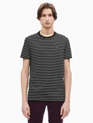 Calvin Klein regular fit striped crewneck logo t-shirt