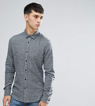 Asos Design TALL Slim Brushed Twill In Charcoal