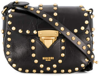 Moschino studded mini satchel bag