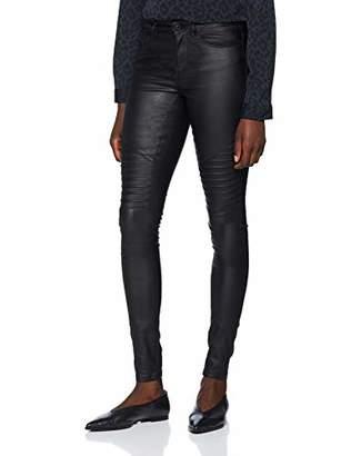 8da7d9ae223 Only Women s Onlanne K Mid Waist Coated Biker Jeans Skinny Jeans