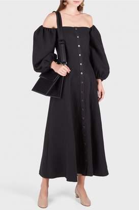 Mara Hoffman Marlow Off-Shoulder Button Dress