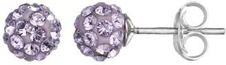 Swarovski Charming Girl Kids' Sterling Silver Crystal Ball Stud Earrings - Made with Crystals