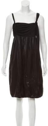Galliano Sleeveless Knee-Length Dress