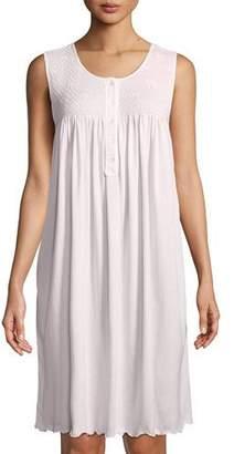 P Jamas Dandelion Sleeveless Short Pima Cotton Nightgown