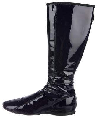 Prada Sport Patent Leather Knee-High Boots