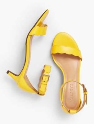 Talbots Pila Kitten-Heel Sandals - Vachetta Leather