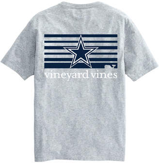 Vineyard Vines Adult Cowboys Short-Sleeve Block-Stripe T-Shirt