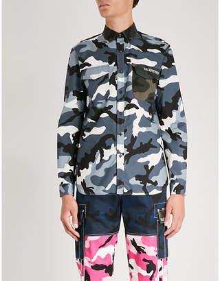 Valentino Camouflage-print regular-fit cotton shirt