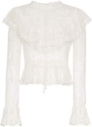 Zimmermann castile crochet motif top