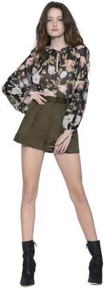 Alice + Olivia Conry Pleated Shorts