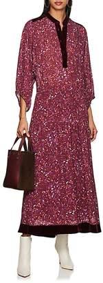 Warm Women's Abstract-Floral Chiffon Shirtdress
