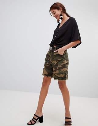 NA-KD Na Kd Army Bermuda Shorts