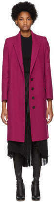 Alexander McQueen Pink Wool and Cashmere Coat