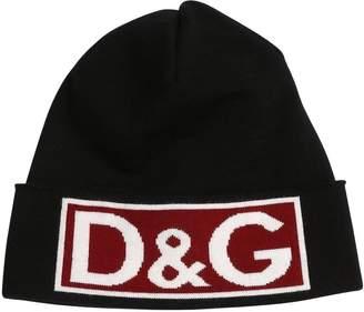 Dolce & Gabbana Logo Jacquard Wool Knit Hat