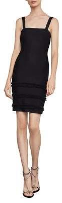 BCBGMAXAZRIA Fringe-Trimmed Sheath Dress