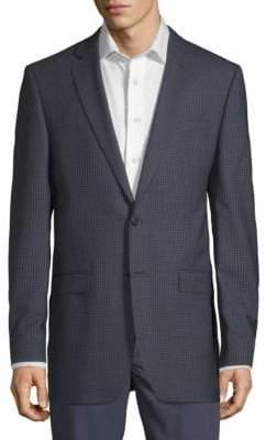 Calvin Klein Mini Checkered Wool Sportcoat