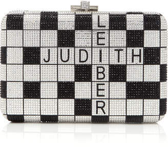 Judith Leiber Couture M'Onogrammable One Across Slim Slide Crystal Embellished Clutch