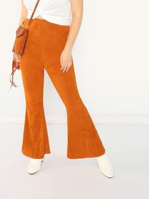 SheinShein Plus Elastic Waist Suede Pants