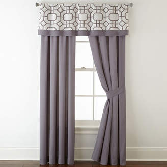 STUDIO BY JCP HOME StudioTM Kenmare 2-Pack Rod-Pocket/Back-Tab Lined Curtain Panels