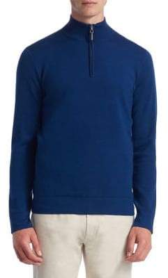 Saks Fifth Avenue COLLECTION Tech Merino Wool Quarter-Zip Sweater