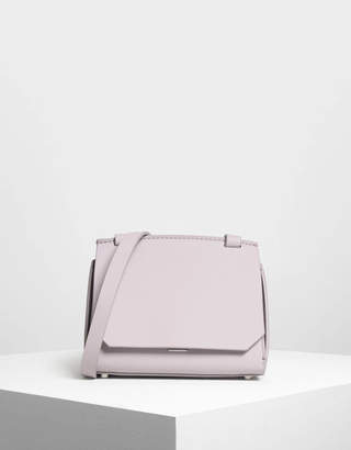 Charles & Keith Front Flap Crossbody Bag