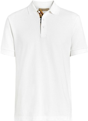 Burberry check trim polo shirt