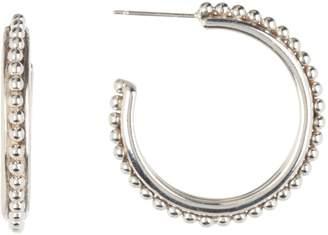 Stephen Dweck 32mm Sterling Silver Beaded Hoop Earrings