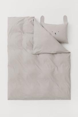 H&M Patterned Duvet Cover Set - Gray