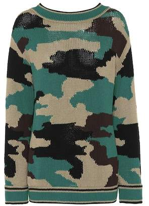 Burberry Camouflage cotton sweater