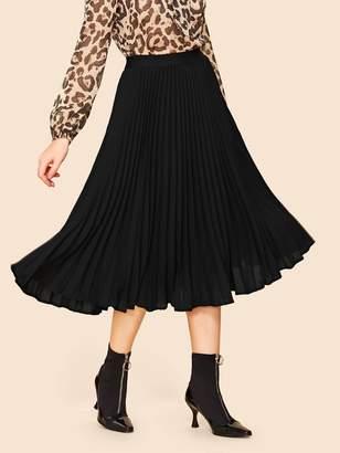SheinShein 70s Plain Pleated Skirt