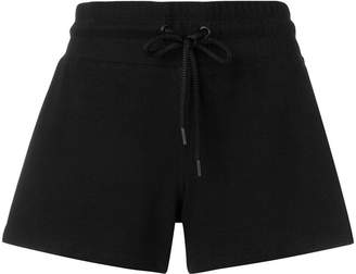 Donna Karan drawstring-waist track shorts