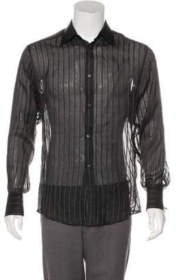 Gucci Silk Sheer French Cuff Shirt