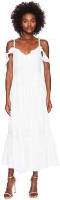 Prabal Gurung Fluis Jacquard Barre Cold Shoulder Long Dress Women's Dress