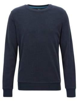 BOSS Hugo Regular-fit long-sleeved T-shirt in toweling jersey S Dark Blue
