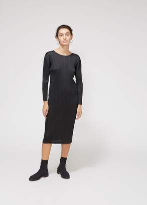 Pleats Please Issey Miyake Long Sleeve Maxi Dress