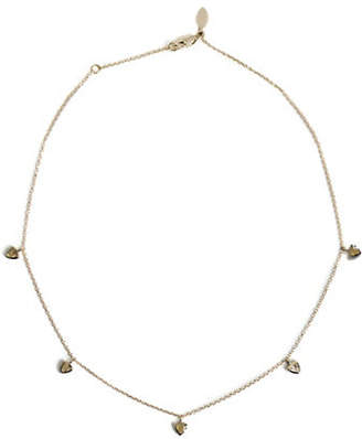 JAC + JO Bezel Basic 14K Gold and Rutilated Quartz Necklace