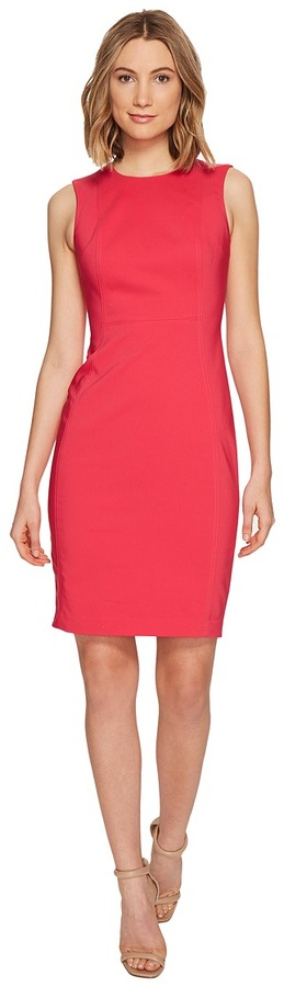 Calvin Klein - Cotton Princess Panel Sheath Dress Women's Dress